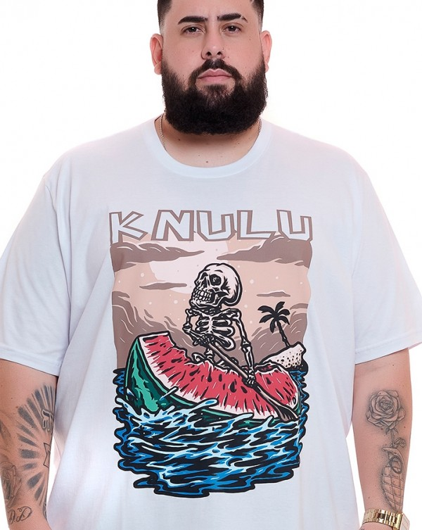 Camiseta Watermelon Branco Knulu