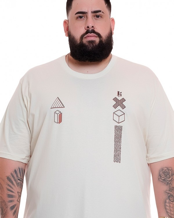 Camiseta Logo Geometric Off White Knulu