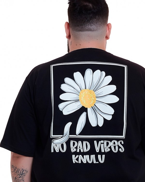 Camiseta No Bad Vibes Preto Knulu