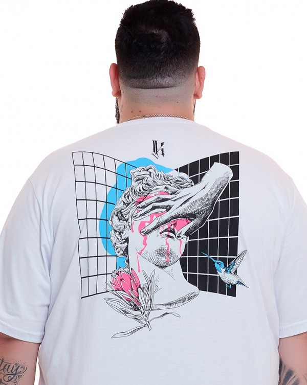 Camiseta Vaporwave Greek Branco Knulu