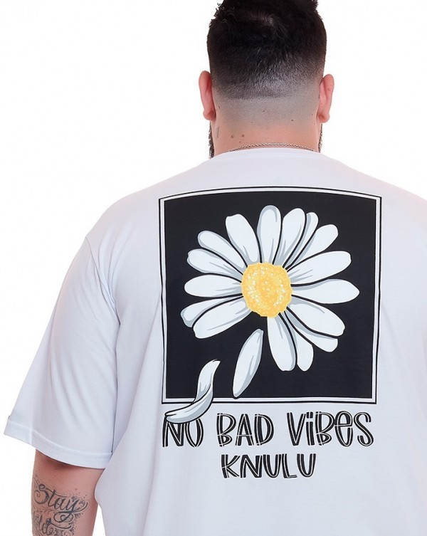 Camiseta No Bad Vibes Branco Knulu