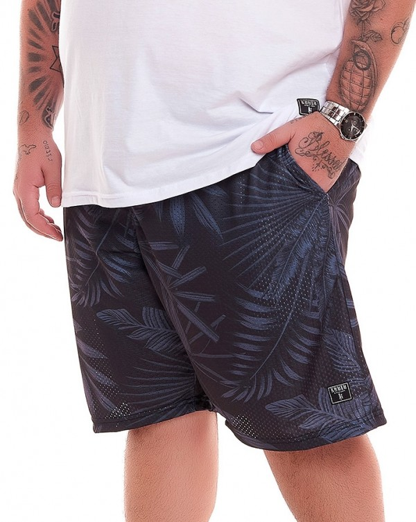 SHORT DRY-FIT FLORAL BLACK KNULU